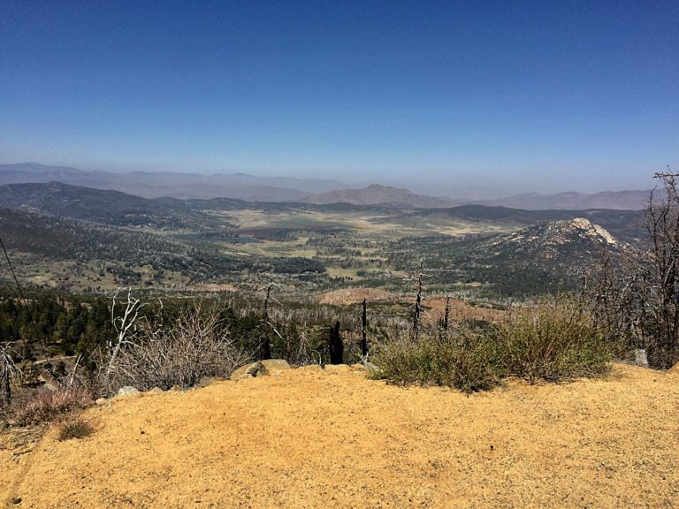 Looking east from the summit of Cuyamaca Peak and where we had come from.