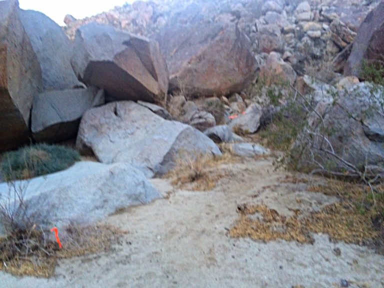 The Boulders, just after the first aid station.