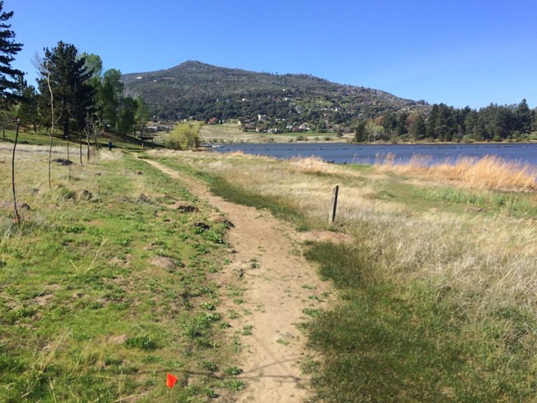 The final 200 meters along the shores of Cuyamaca Lake.
