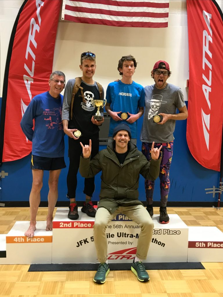 Your men's team champions, the Coconino Cowboys! Left to right: Eric Clifton, Caleb Schiff, Jared Hazen (overall winner), Ian Torrence & Eric Senseman (seated).